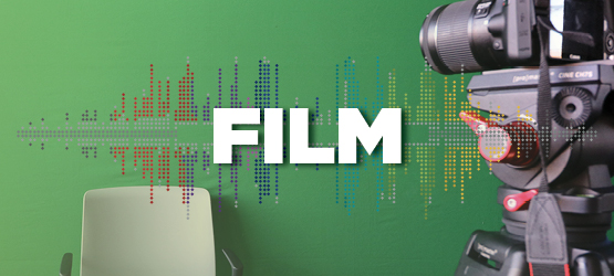 Capture video footage in our Green Screen Flex Studio